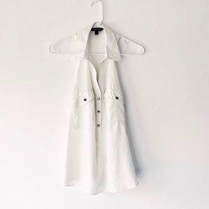 Rock & Republic Sleeveless White Button Up Top